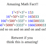 Amazing Math Fact image for Twitter