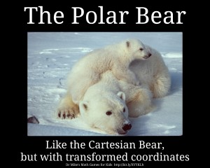 The Polar Bear - Like the Cartesian Bear, but with transformed coordinates