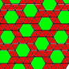 the archimedean tiling 3.3.3.3.6 - snub hexagon tiling