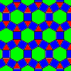 the archimedean tiling 3.4.6.4 - the rhombitrihexagonal tiling