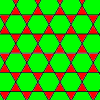 the archimedean tiling 3.6.3.6 - the trihexagonal tiling