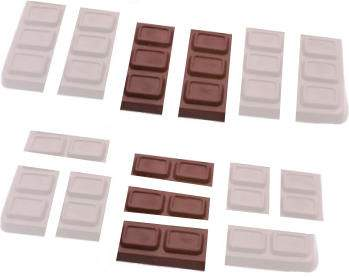 two sixths of a bar of chocolate is the same as three ninths.